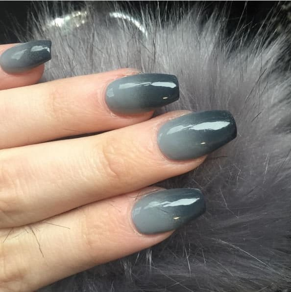 ombre & grey nail designs 0