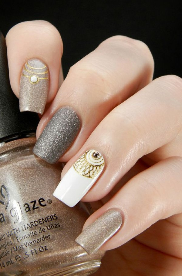 ombre & grey nail designs 11