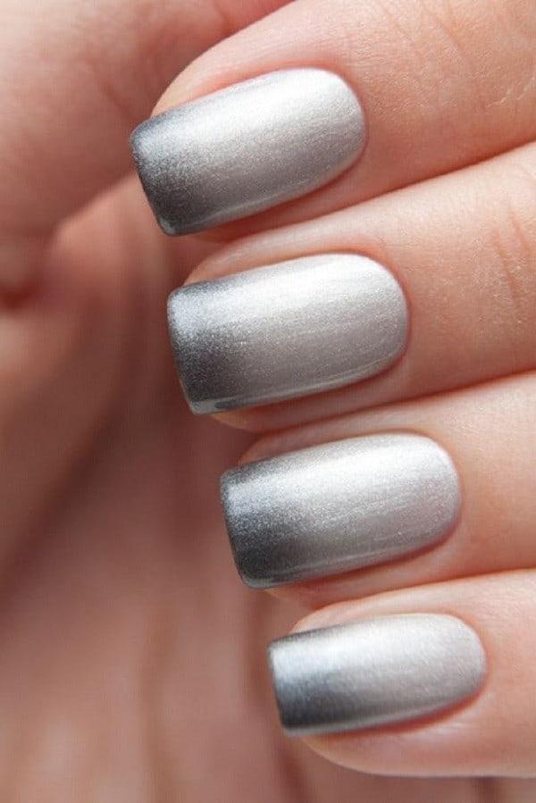 ombre & grey nail designs 12