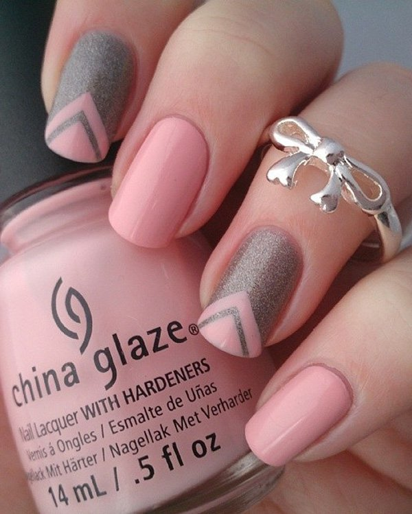ombre & grey nail designs 14
