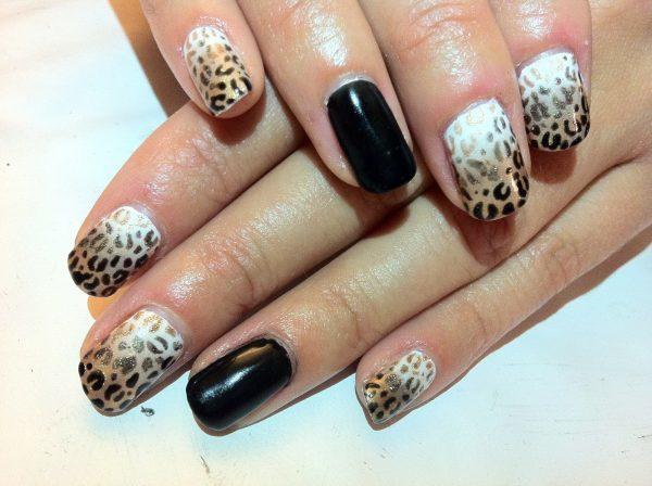 ombre & grey nail designs 17
