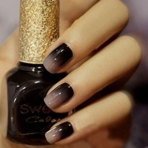 ombre & grey nail designs 2