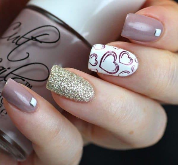 ombre & grey nail designs 21