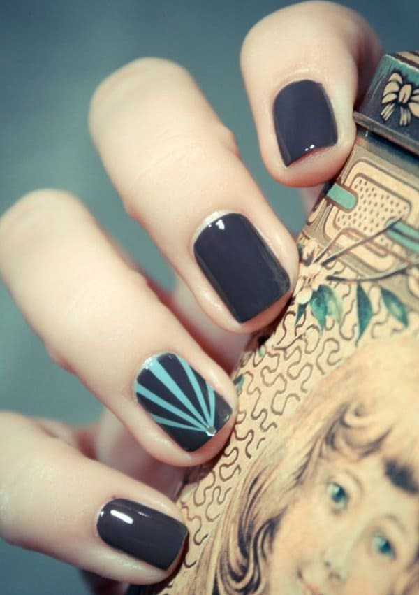 ombre & grey nail designs 23