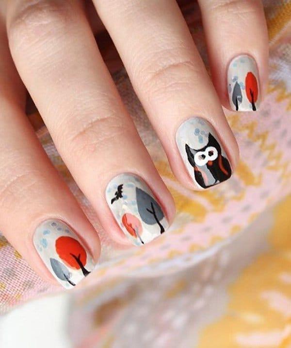 ombre & grey nail designs 25