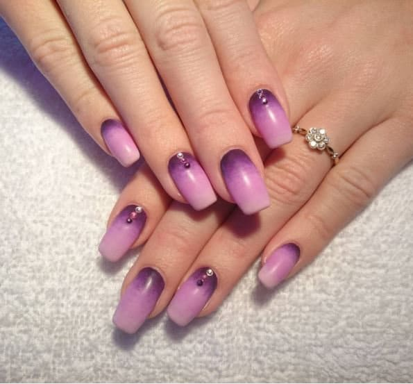 ombre & grey nail designs 26