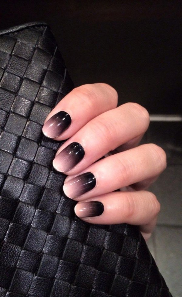 ombre & grey nail designs 268