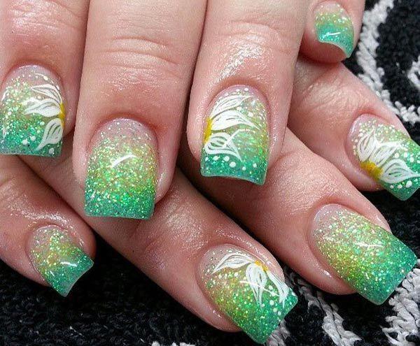 ombre & grey nail designs 4