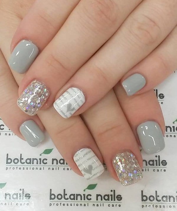 25 glamorous ombre grey nail designs for 2018 grey nail design prinsesfo Image collections