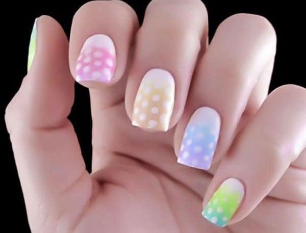 ombre & grey nail designs 9