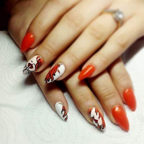 orange nail designs 12
