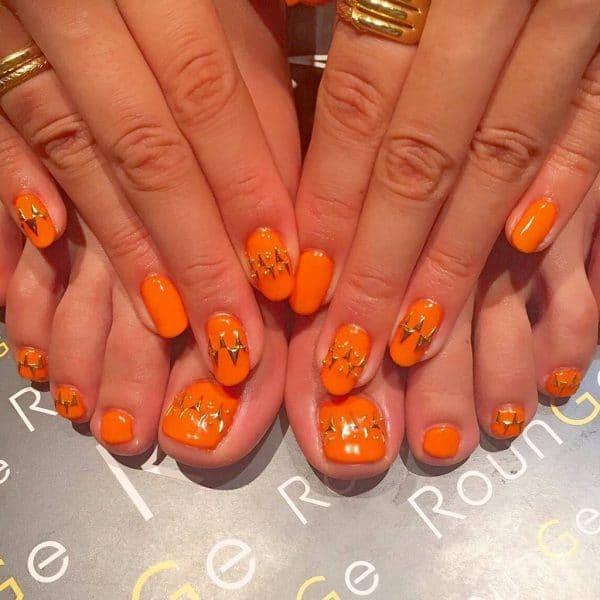 orange nail designs 13