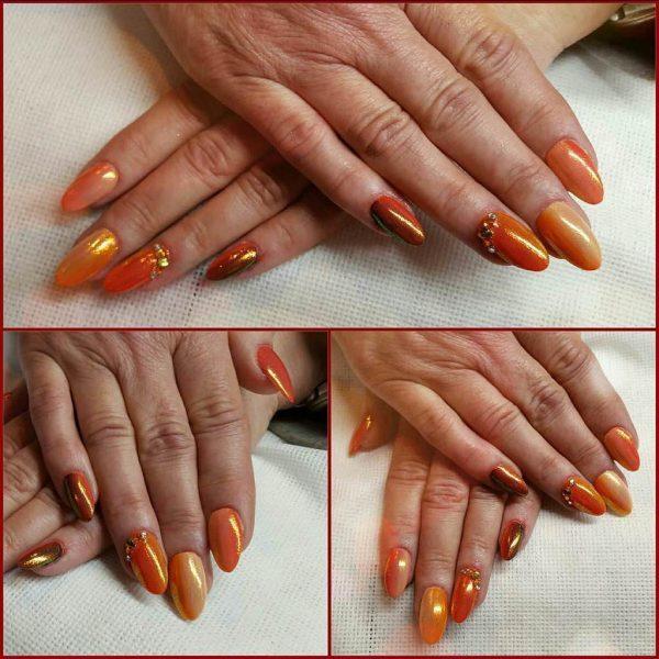 orange nail designs 16