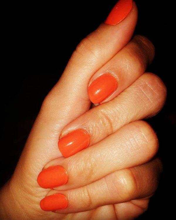 orange nail designs 17