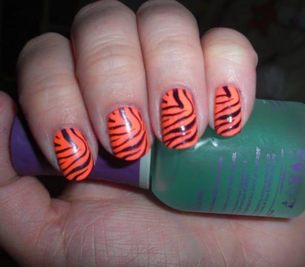 orange nail designs 2
