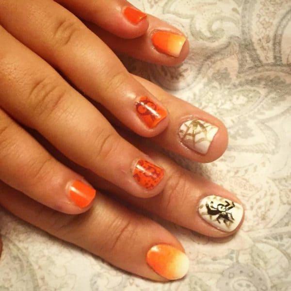 orange nail designs 20