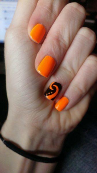 orange nail designs 21