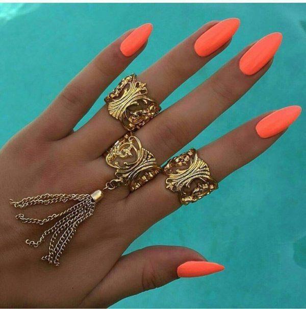 orange nail designs 22