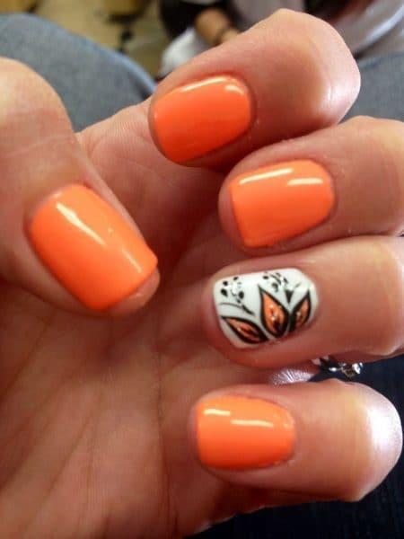 orange nail designs 24