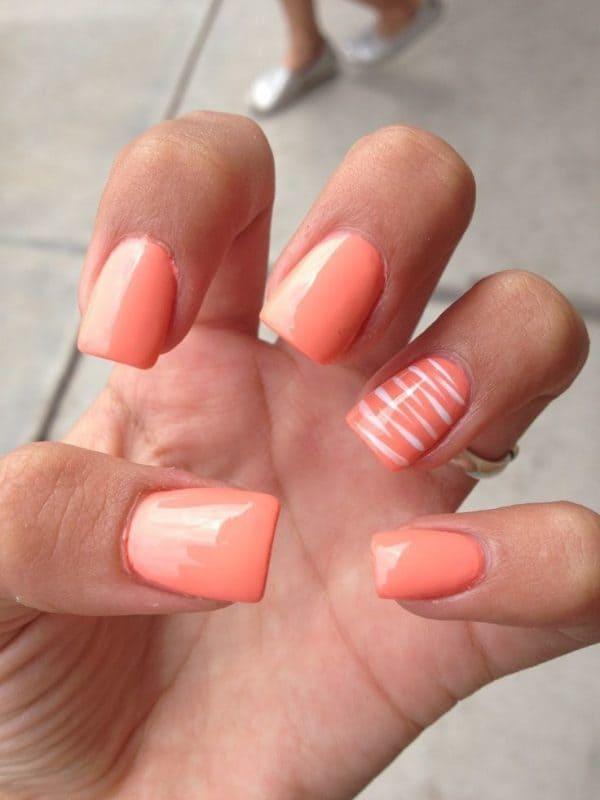 orange nail designs 25