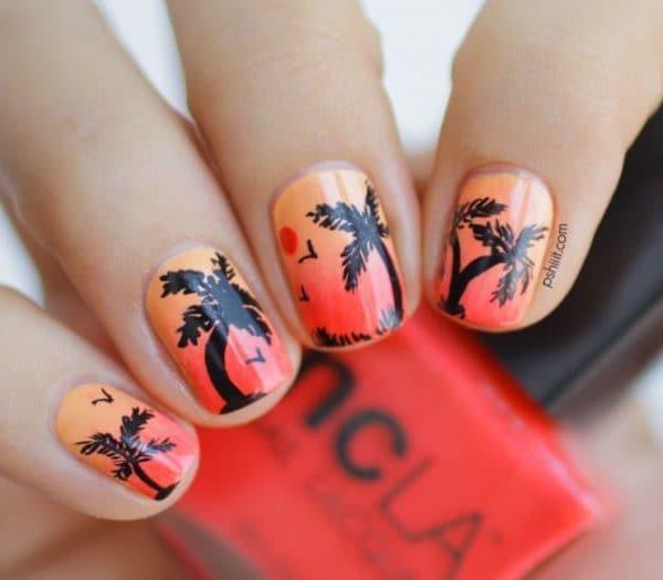 orange nail designs 3