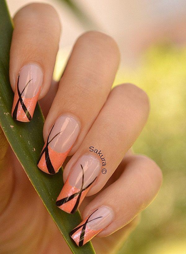 orange nail designs 7