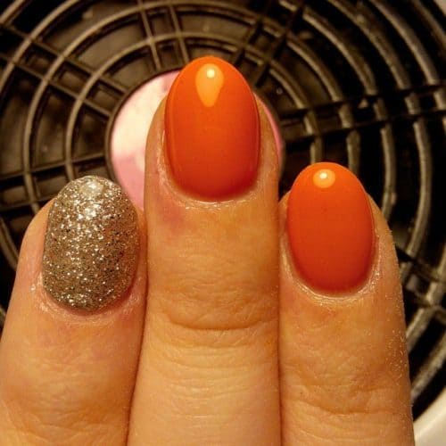 25 vibrant orange nail designs to capture all the attention orange nail designs 8 prinsesfo Gallery