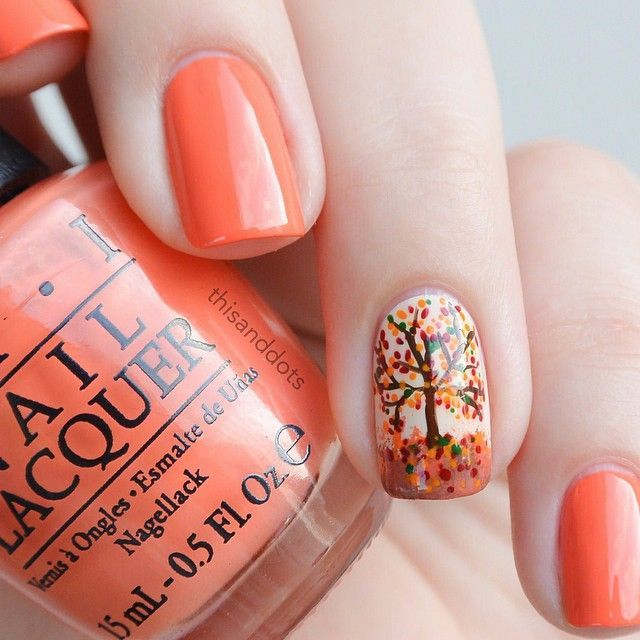 orange nail designs 9