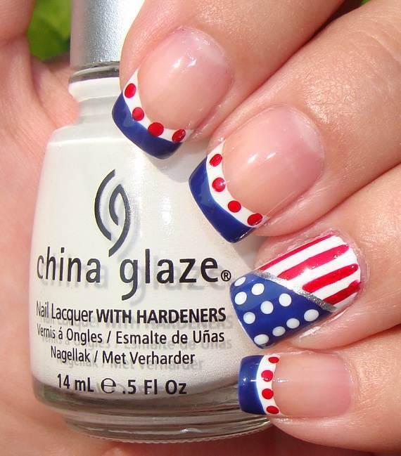 patriotic nail art for women