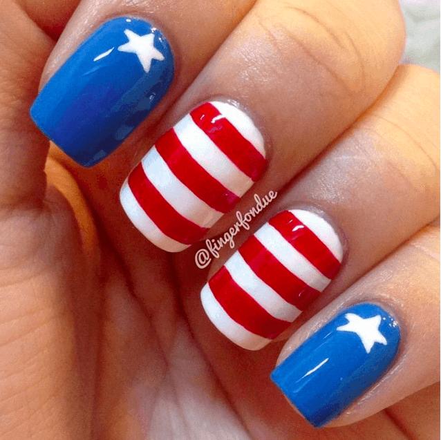 American patriotic nail designs for girl