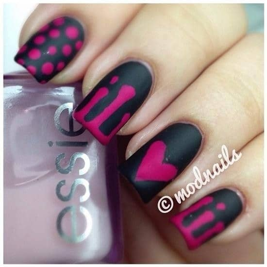 Black Contrast nail