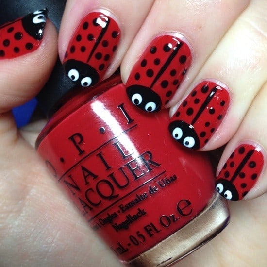 nail designs red