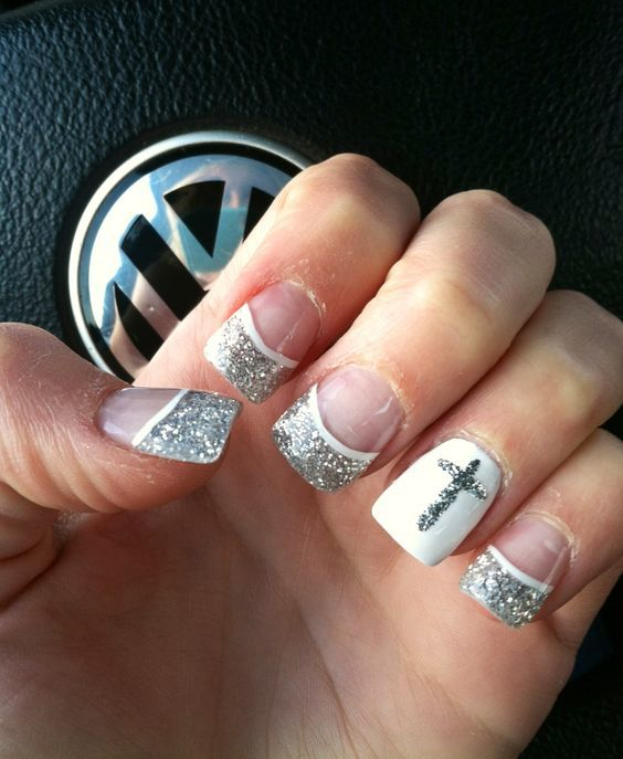 Cross Style ring finger nail - 10 Radiant Nail Designs For Ring Finger – NailDesignCode