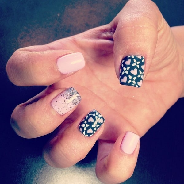 shellac nail Sweet & Cute Design for girl