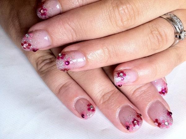 Girly Tips shellac nail art
