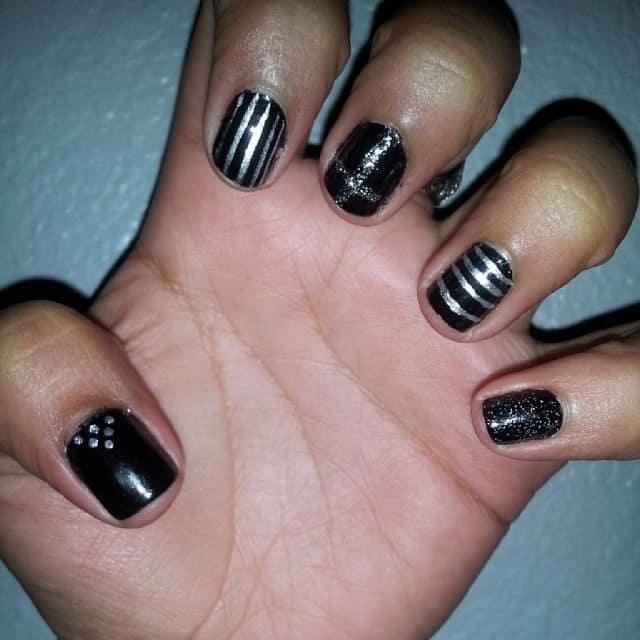 silver nail designs 11