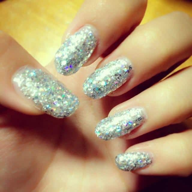 Diamonds Explosion silver nail idea your all time favorite