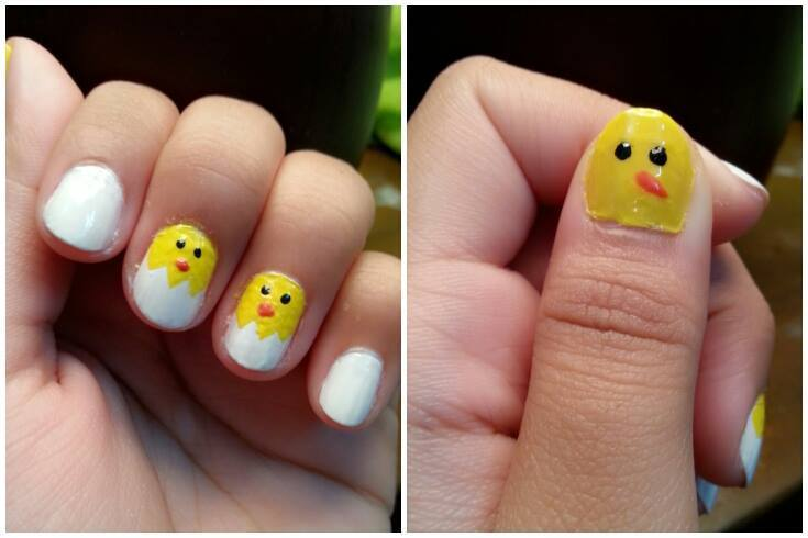 simple & easy Easter Nail art