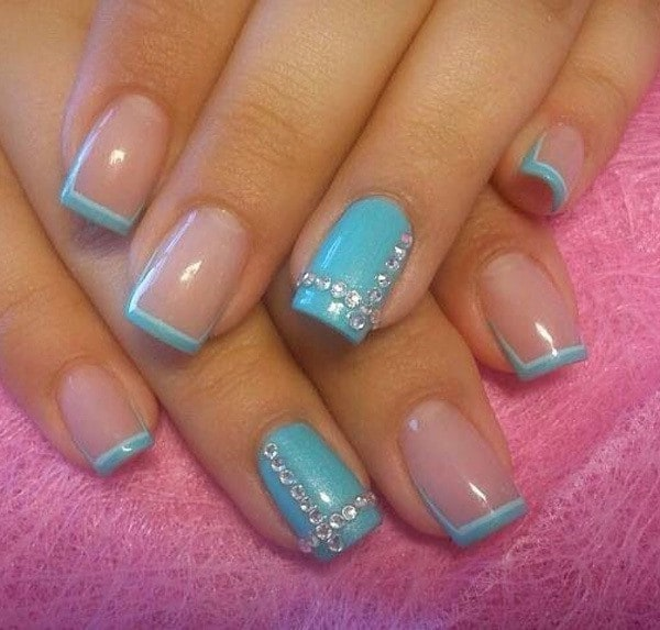 Simple Acrylic nail idea