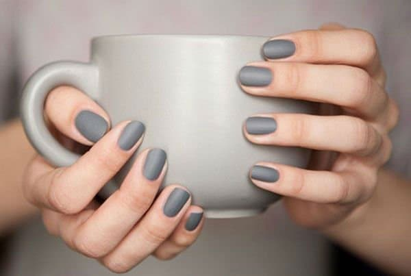 Grey easy nail designs for women