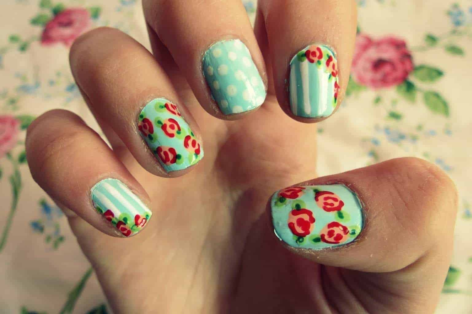 nails art design 25 flower nail designs to make your nails shine 28438