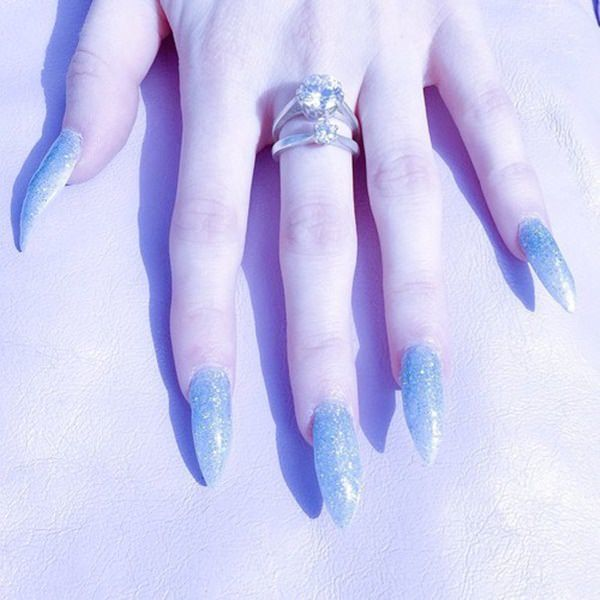 Ice Queen stiletto nail art