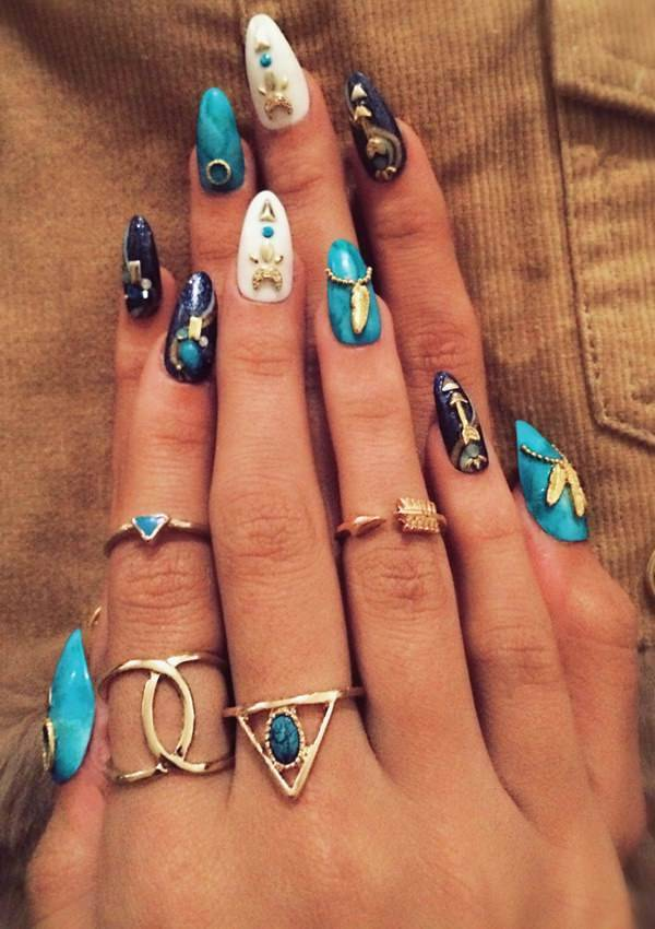 stiletto nail designs 35