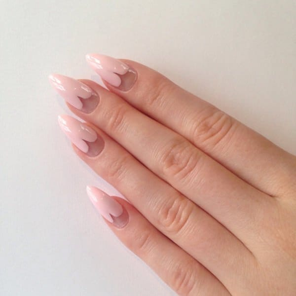 Sweet Baby Pink stiletto nail designs you love