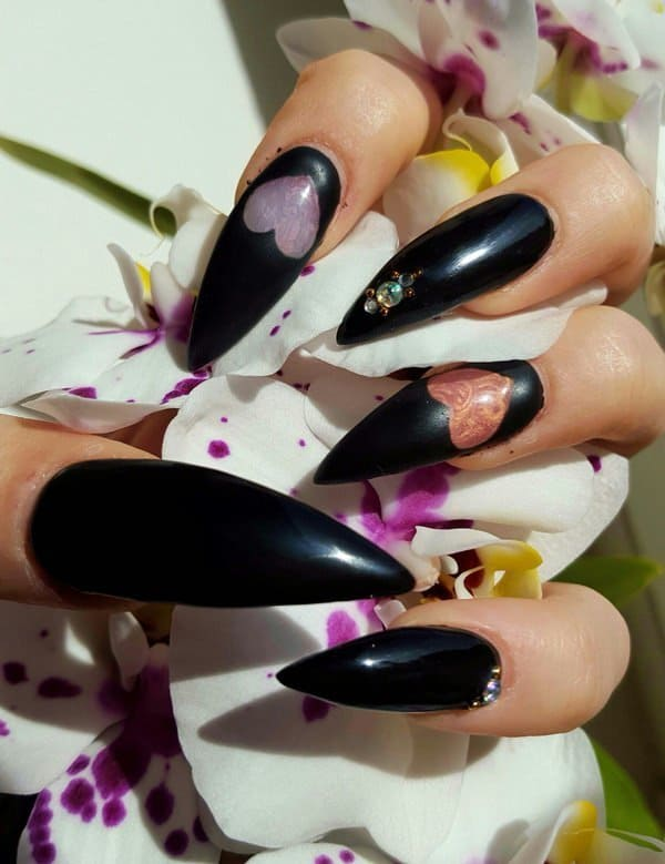 love stiletto nail designs for girl