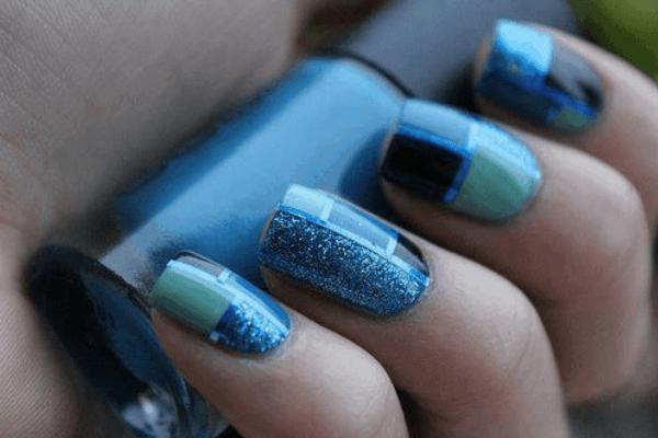 teal nail designs 1