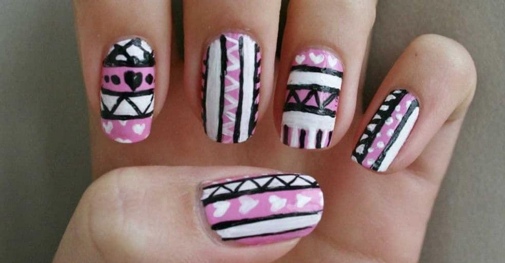 tribal aztec nail designs 10