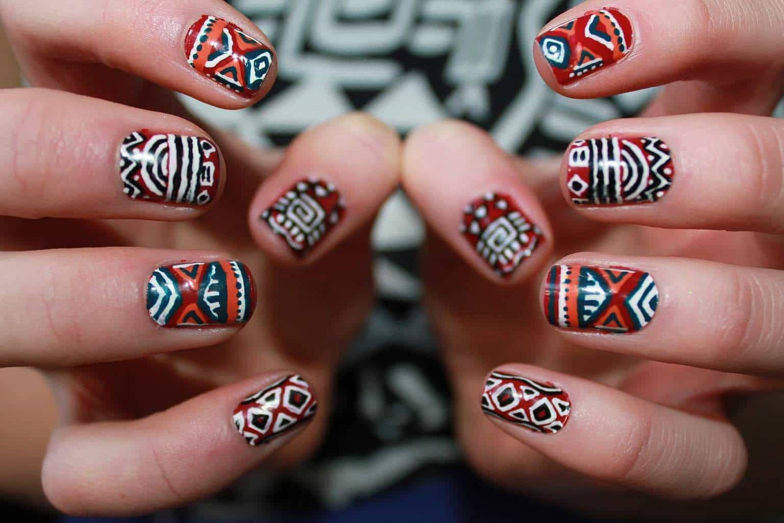 12 Trendiest Tribal Aztec Nail Designs For 2018 Naildesigncode