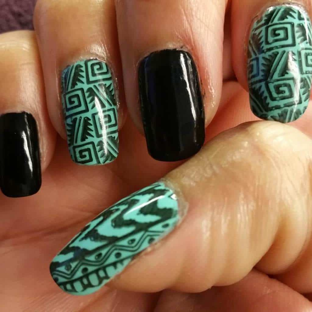 12 trendiest tribal aztec nail designs for 2018 naildesigncode personalized tribal print tribal aztec nail designs 9 prinsesfo Image collections