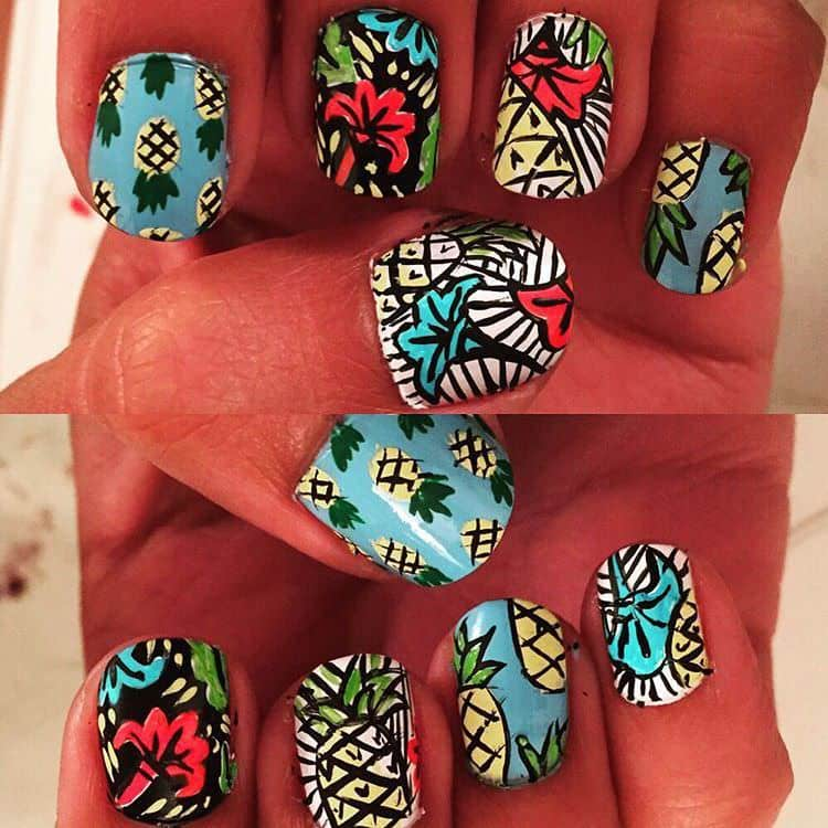 tropical nail designs 10